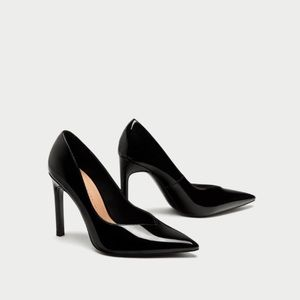 Brand new patent leather Zara heels, size 6.5